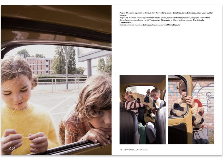 kidsfashion editorial per Scimparello magazine