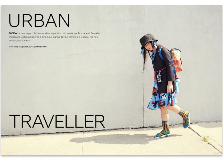 Urban traveller - kidsfashion editorial - Brooklyn